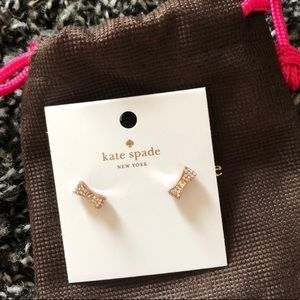 Kate Spare Bow Earrings NWT